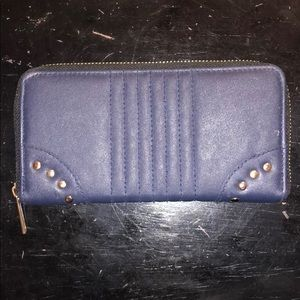 Navy Blue and gold studded Wallet